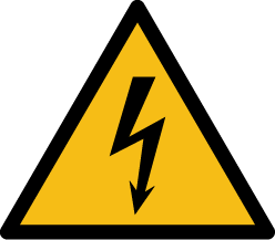 Danger symbol electrical hazard