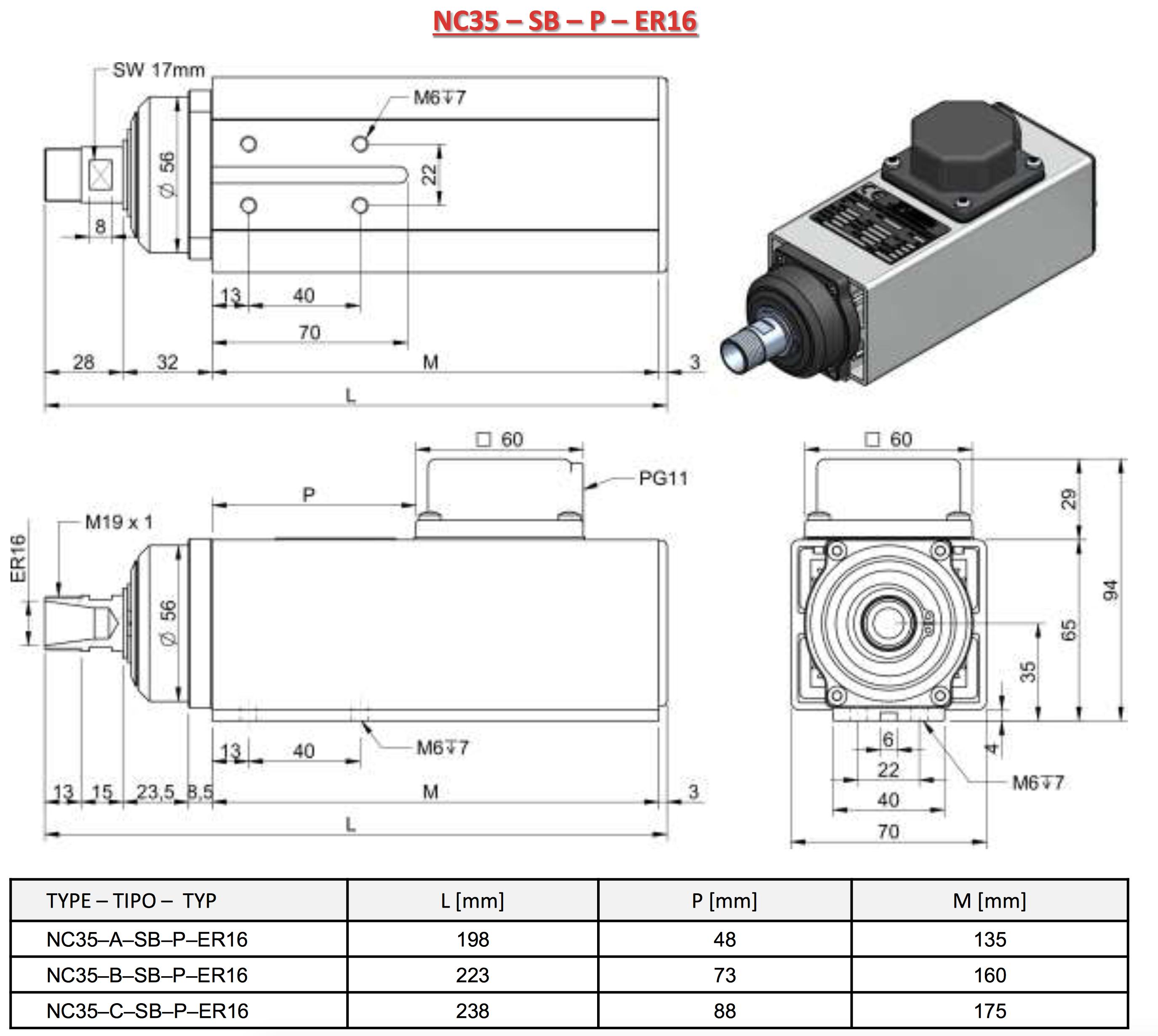 Sorotec - Teknomotor HF-Motor 0.33 KW on